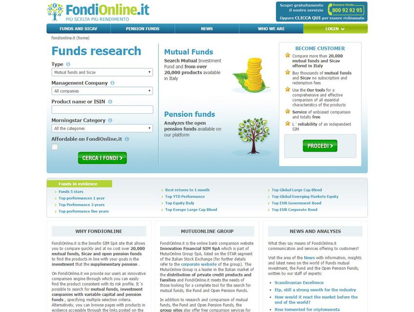 Fondionline screenshot