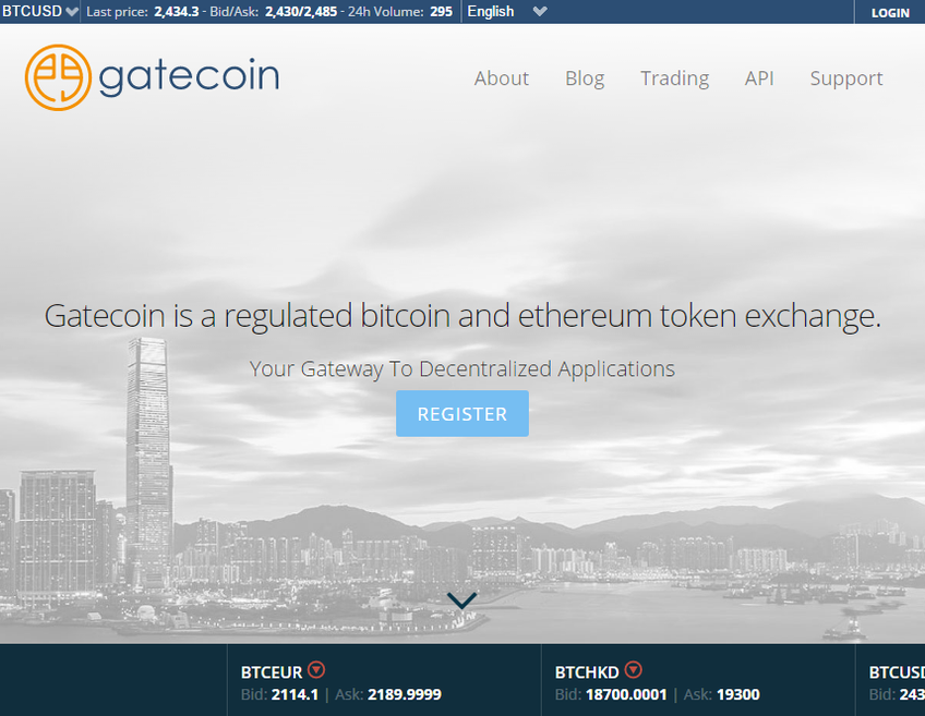 Gatecoin screenshot