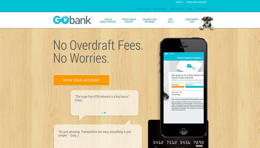 Gobank screenshot