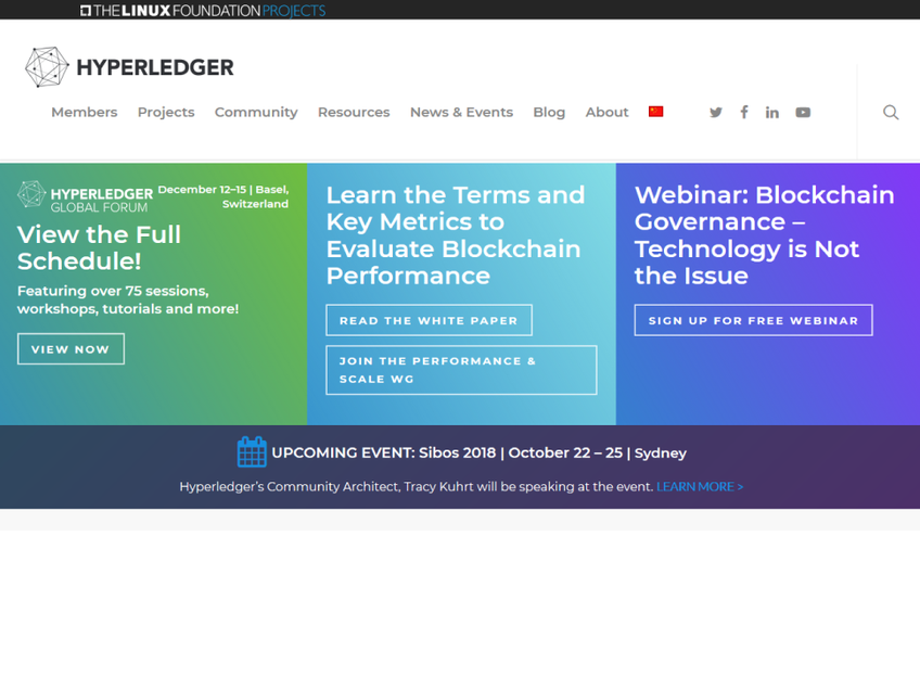 HyperLedger screenshot