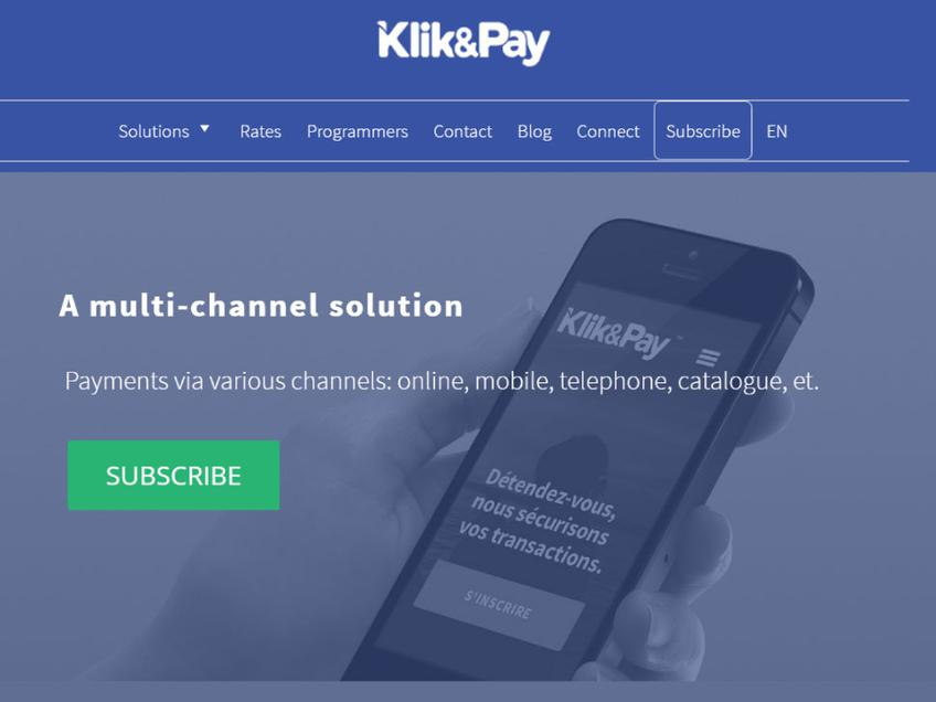 Klik & Pay screenshot