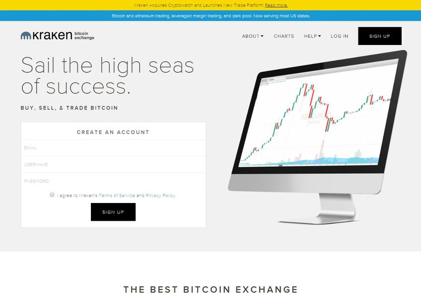 Kraken Bitcoin Exchange Screenshot