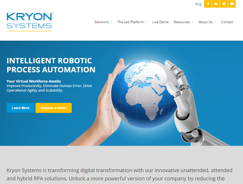 Kryon Systems screenshot