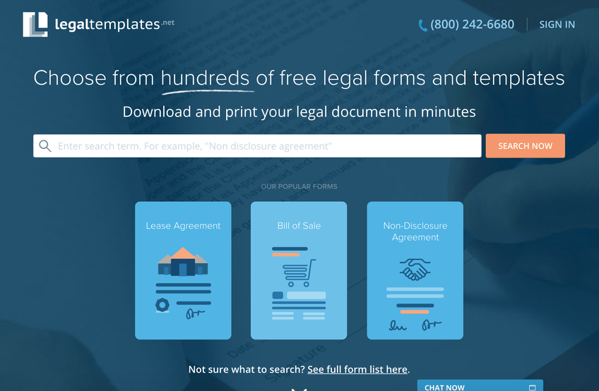 LegalTemplates screenshot