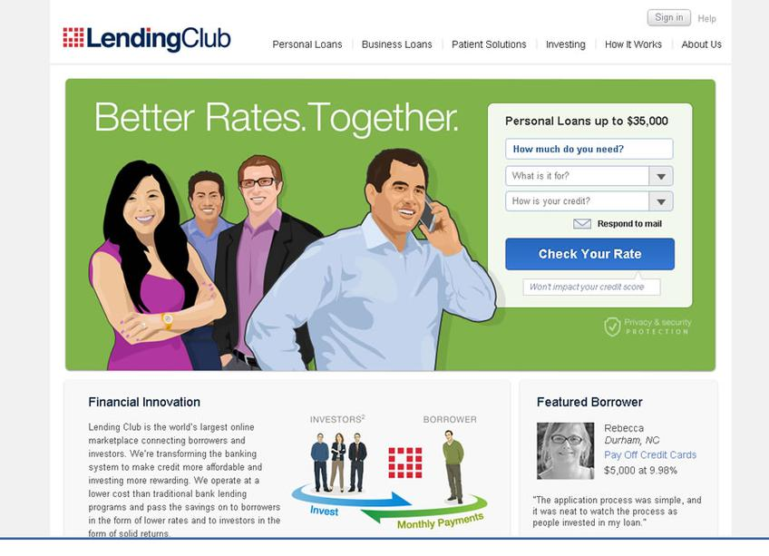 LendingClub screenshot