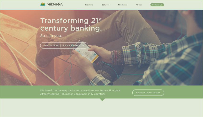 Meniga screenshot