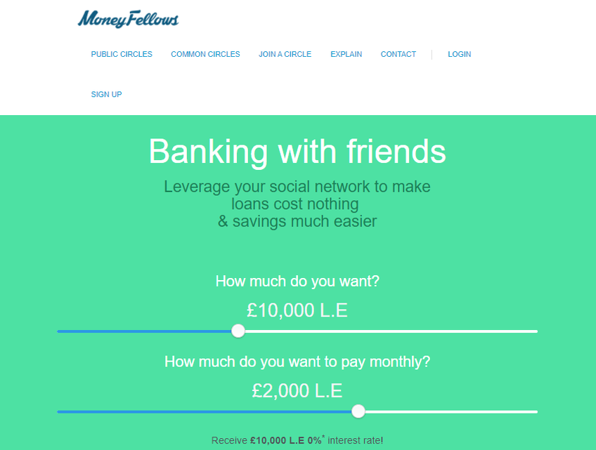 MoneyFellows screenshot