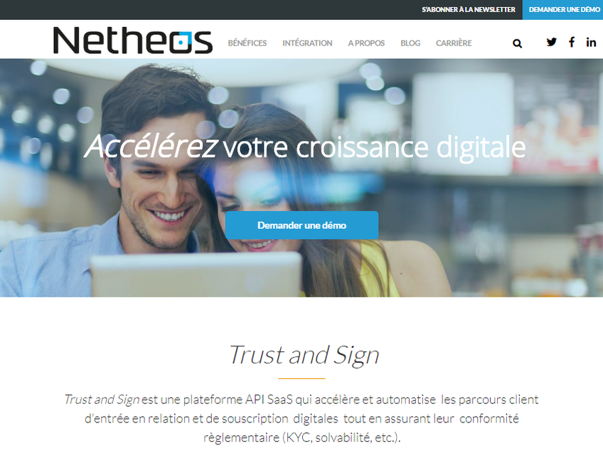 Netheos screenshot