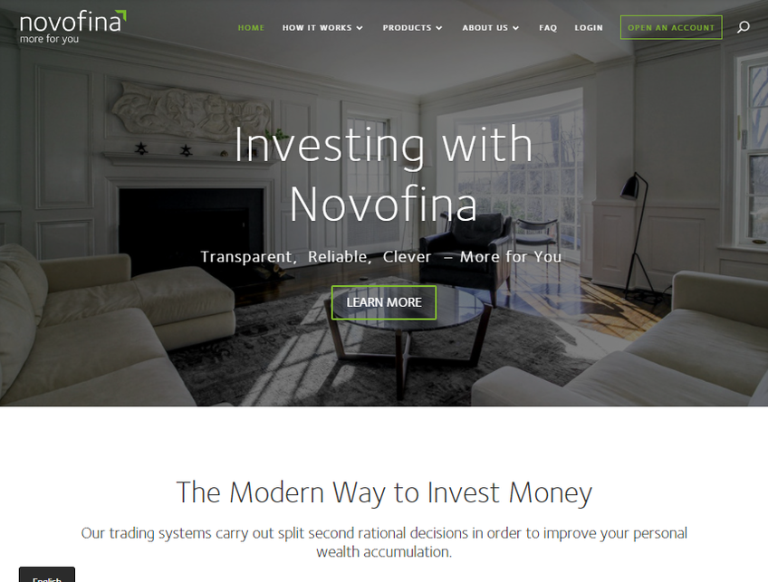Novofina screenshot