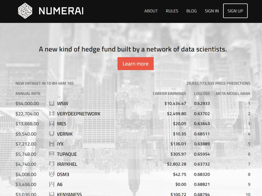 Numerai screenshot
