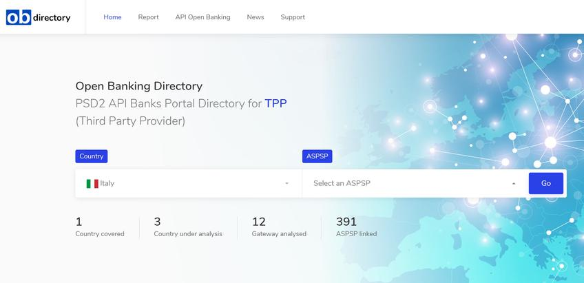 Open Banking Directory screenshot