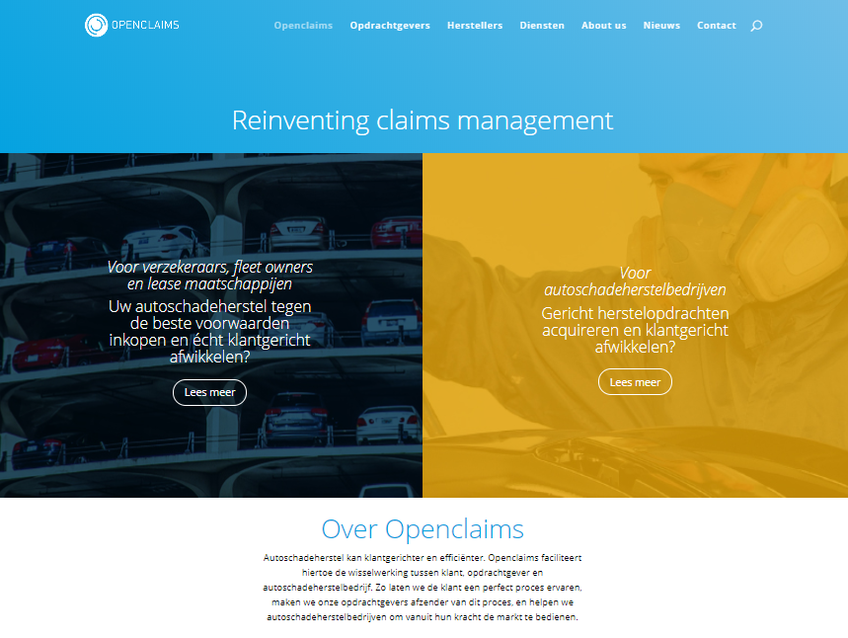 Openclaims screenshot