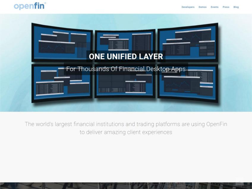 OpenFin screenshot