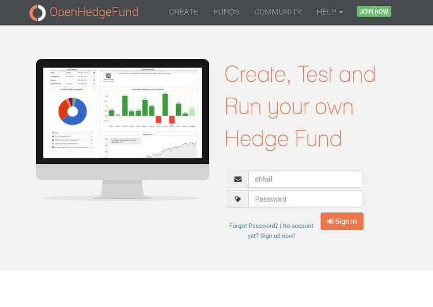 OpenHedgeFund screenshot