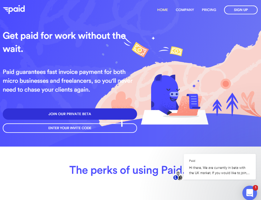 Paid.co screenshot