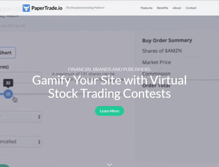 PaperTrade screenshot