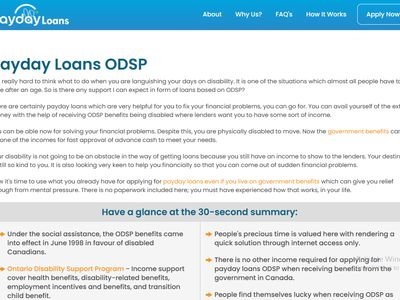 Payday Loans ODSP image