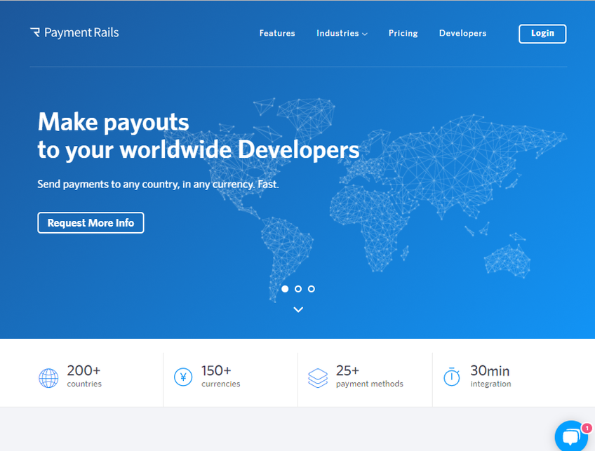 Payment Rails screenshot