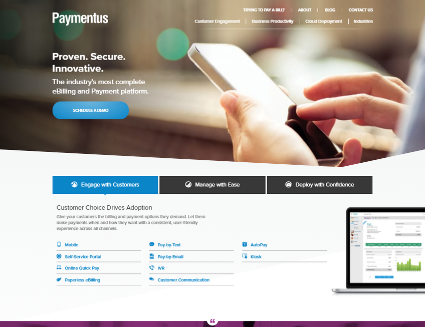 Paymentus screenshot