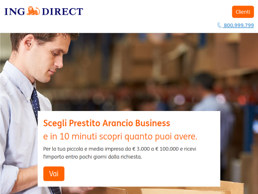 Prestito Arancio Business screenshot