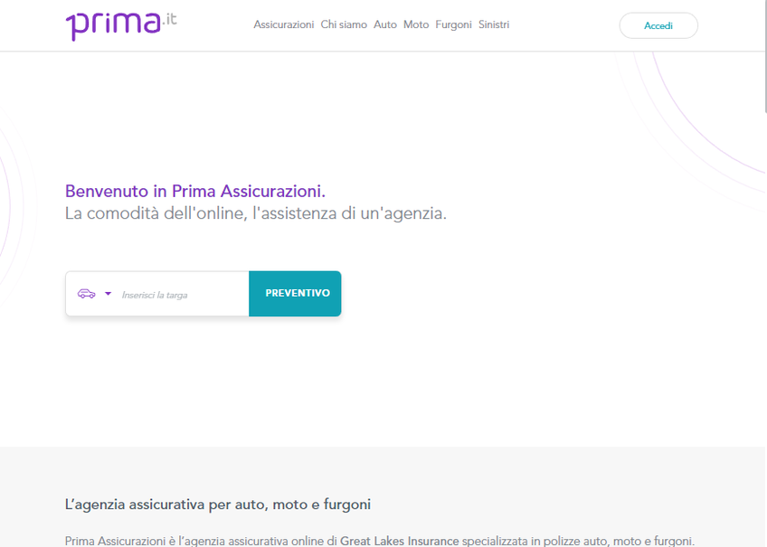 Prima.it screenshot