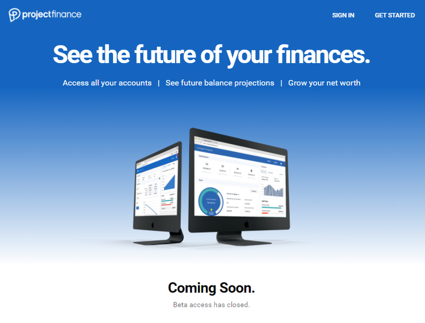 Project Finance screenshot