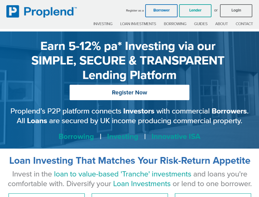 Proplend screenshot