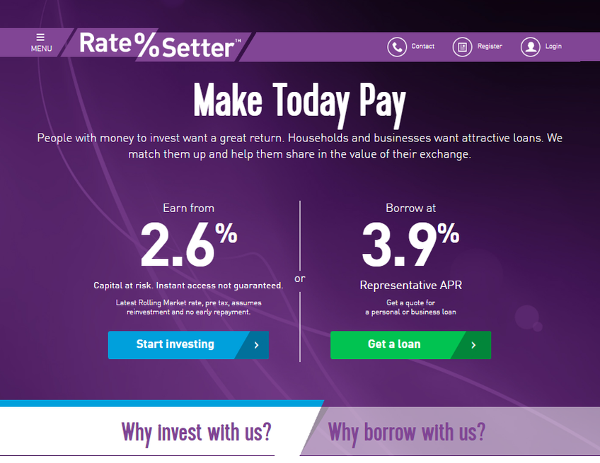 Ratesetter screenshot