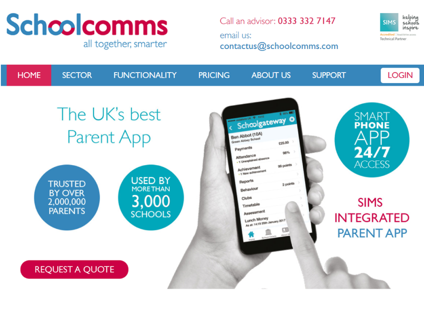 Schoolcomms screenshot