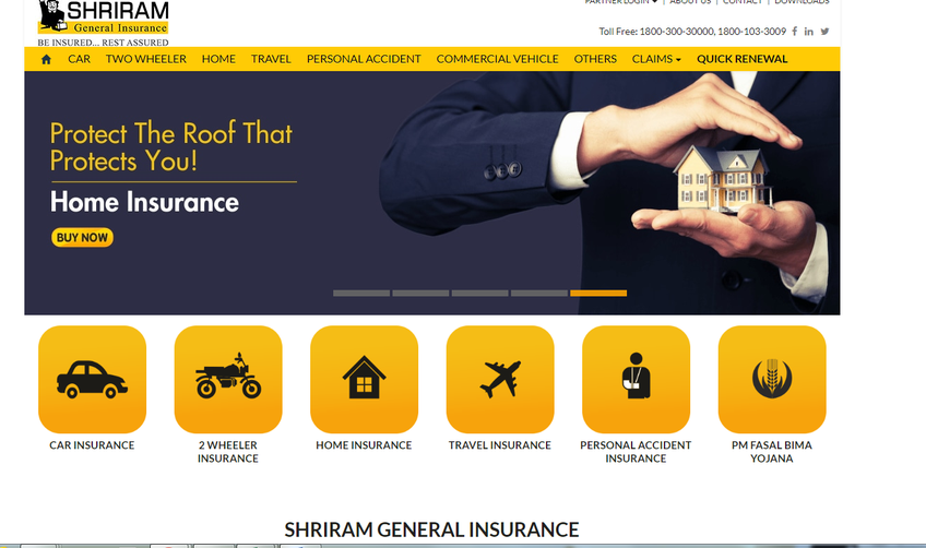 Shriram General Insurance Co. Ltd. screenshot