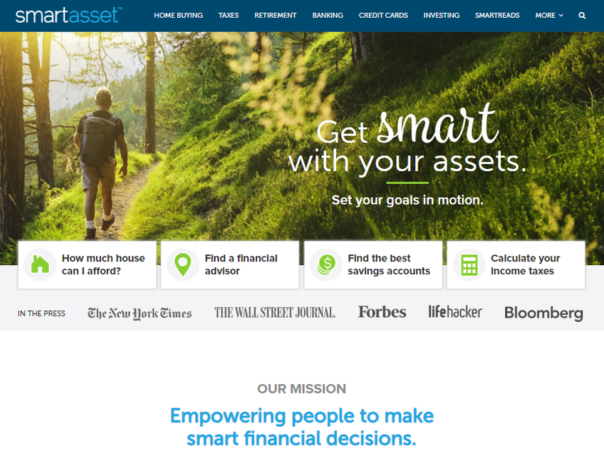 SmartAsset screenshot