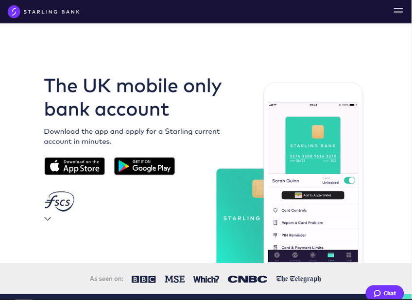 Starling Bank screenshot