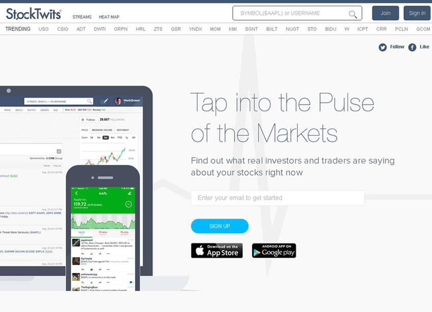 StockTwits screenshot