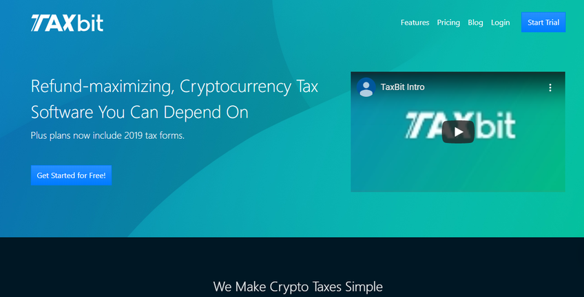 TaxBit screenshot