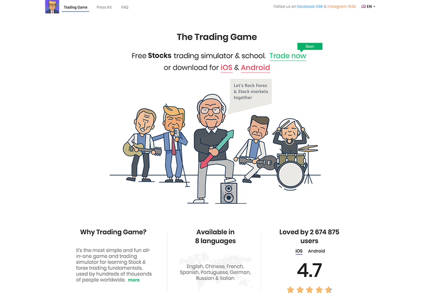 The Trading Game screenshot