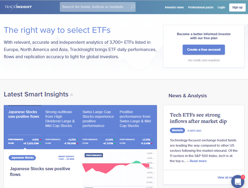 Trackinsight screenshot