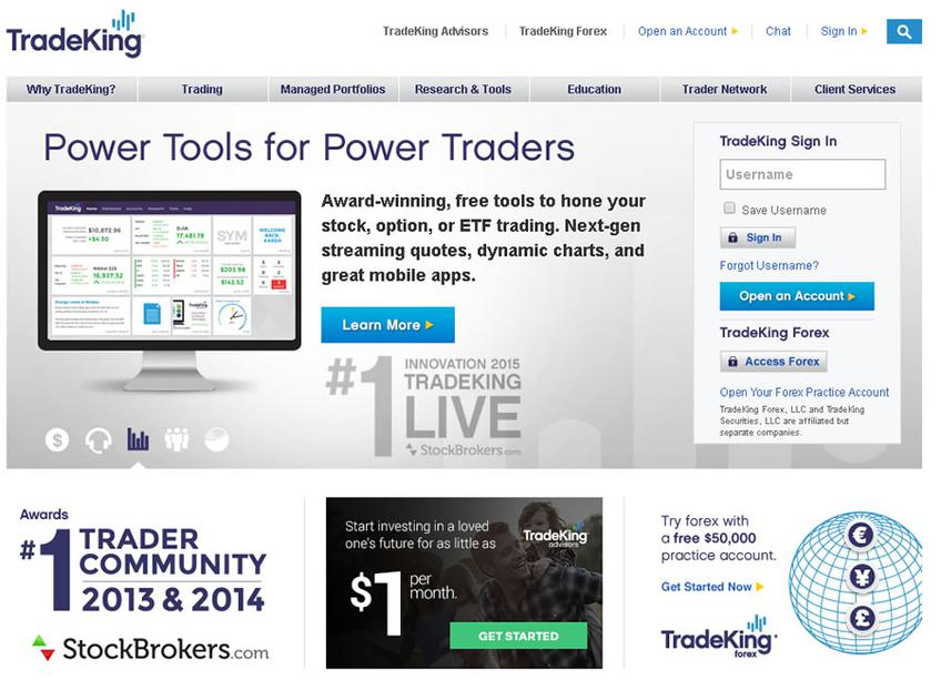 TradeKing screenshot