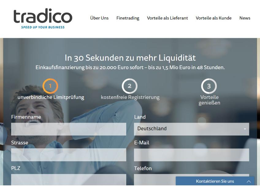 Tradi.co screenshot