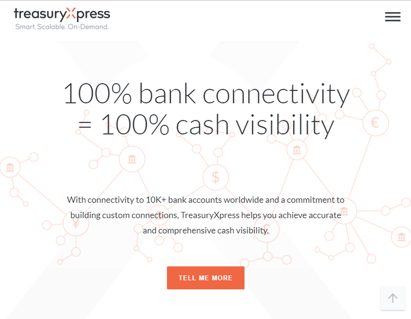 TreasuryXpress screenshot