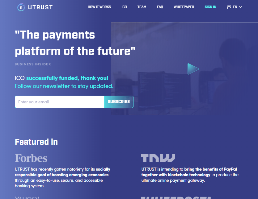 Utrust screenshot