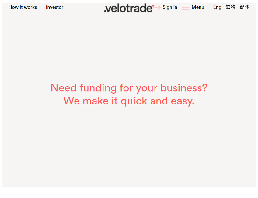 Velotrade screenshot