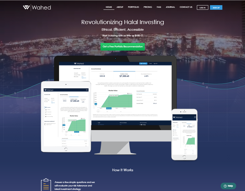 Wahed Invest screenshot