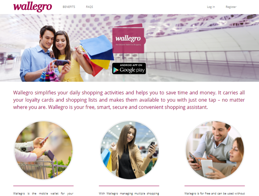 Wallegro screenshot