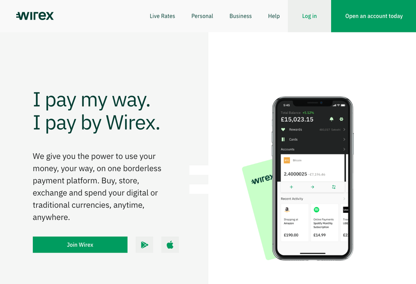 Wirex screenshot