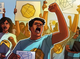 Indian Street Protests for Cryptocurrency image