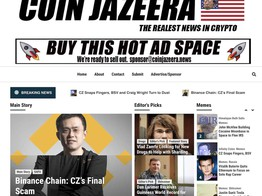 Satire Site 'Coin Jazeera' Now Ridiculing Cryptocurrency Reporting and Culture image