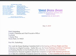 US Senate Banking Committee Asks Mark Zuckerberg for Details Regarding Facebook's Secretive 'Libra' Cryptocurrency Project image