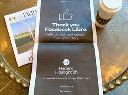 Oh the Irony: Hedera Hashgraph Thanks Facebook for Imitating its Blockchain Tech image
