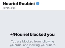 Dr. Nouriel Roubini Extends Crypto Bashing on Twitter, Blocks Crypto Advocates Who Challenge Him image