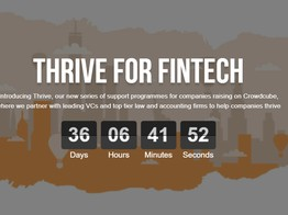 "Thrive for Fintech, ""shout out"" for innovative firms solving real problems image"
